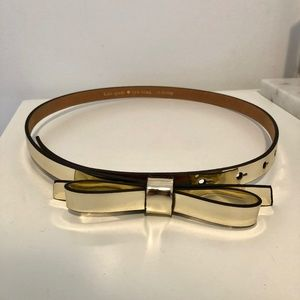 Kate Spade gold bow belt